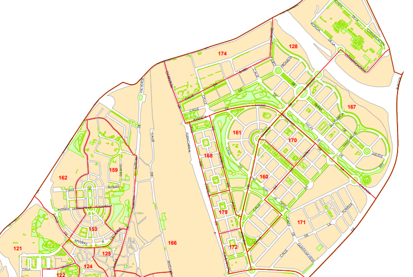 Mapa con la separación de distritos. Fuente: Ayuntamiento de Madrid