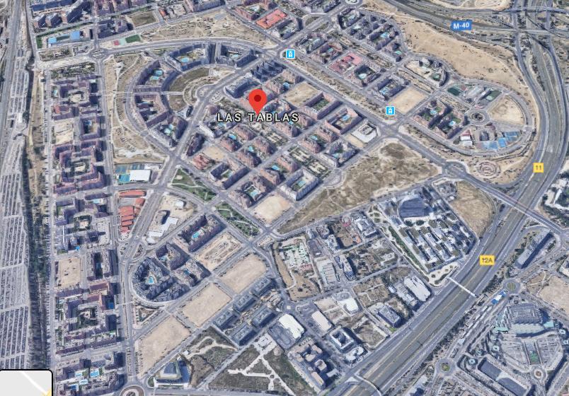 Vista panorámica de Las Tablas. Fuente: Google Maps
